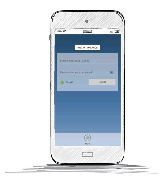 Online Mobile Banking App Phone Mockup