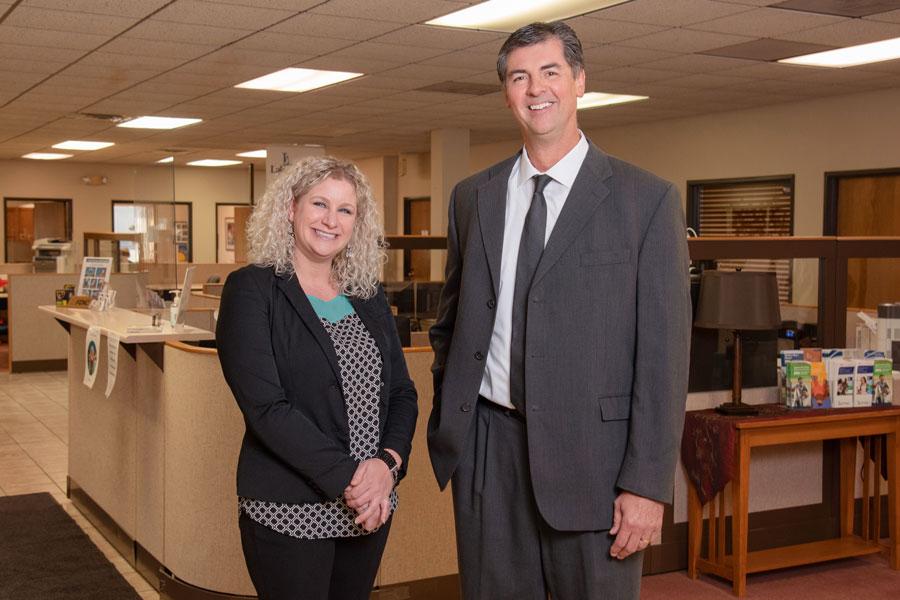 Amanda And Kevin At Lake Region Bank