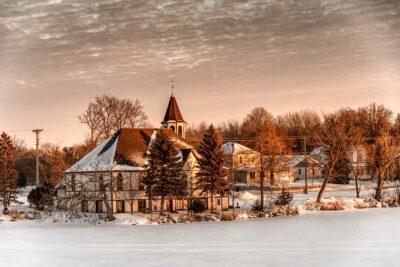 Gregory Harp Local Photographer Church Winter Scenery