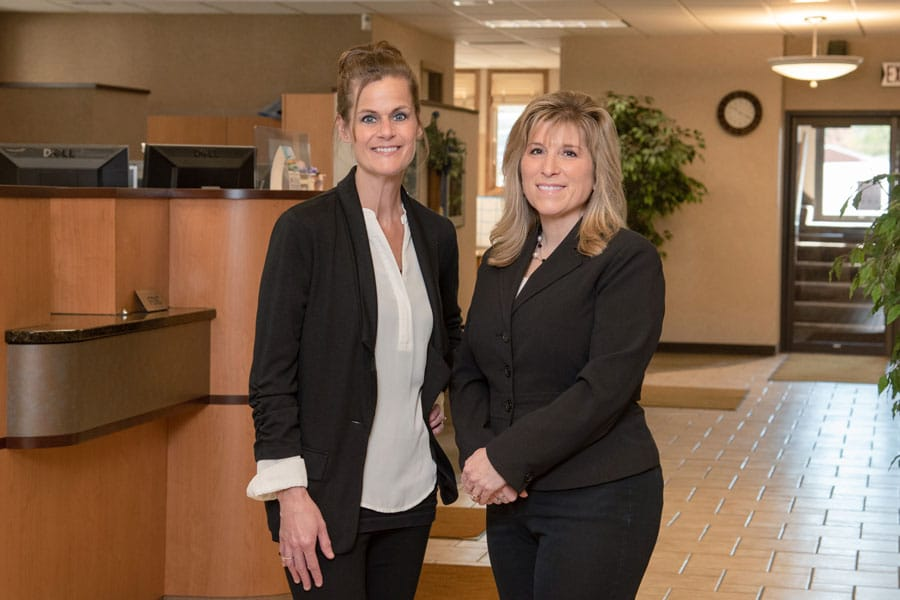 Lisa And Jodi At Lake Region Bank