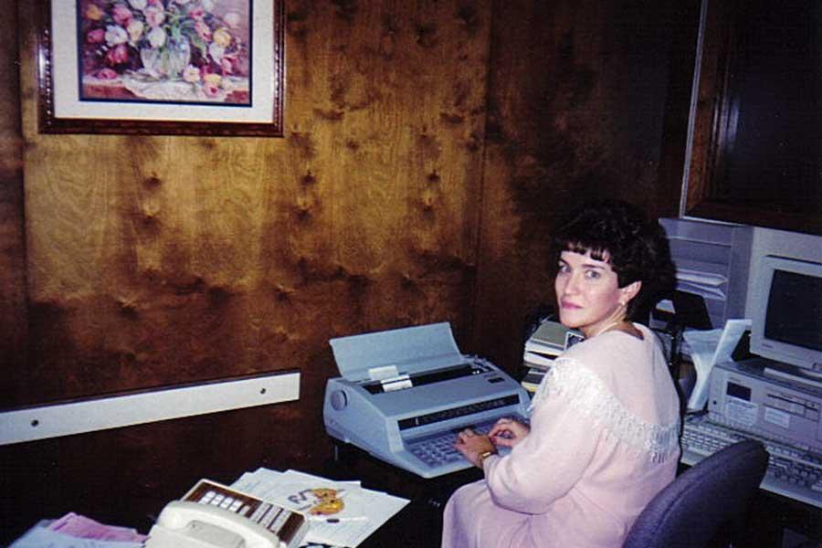 Lynda back in the typewriter days