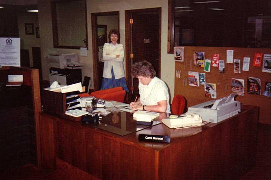 Carol hard at work