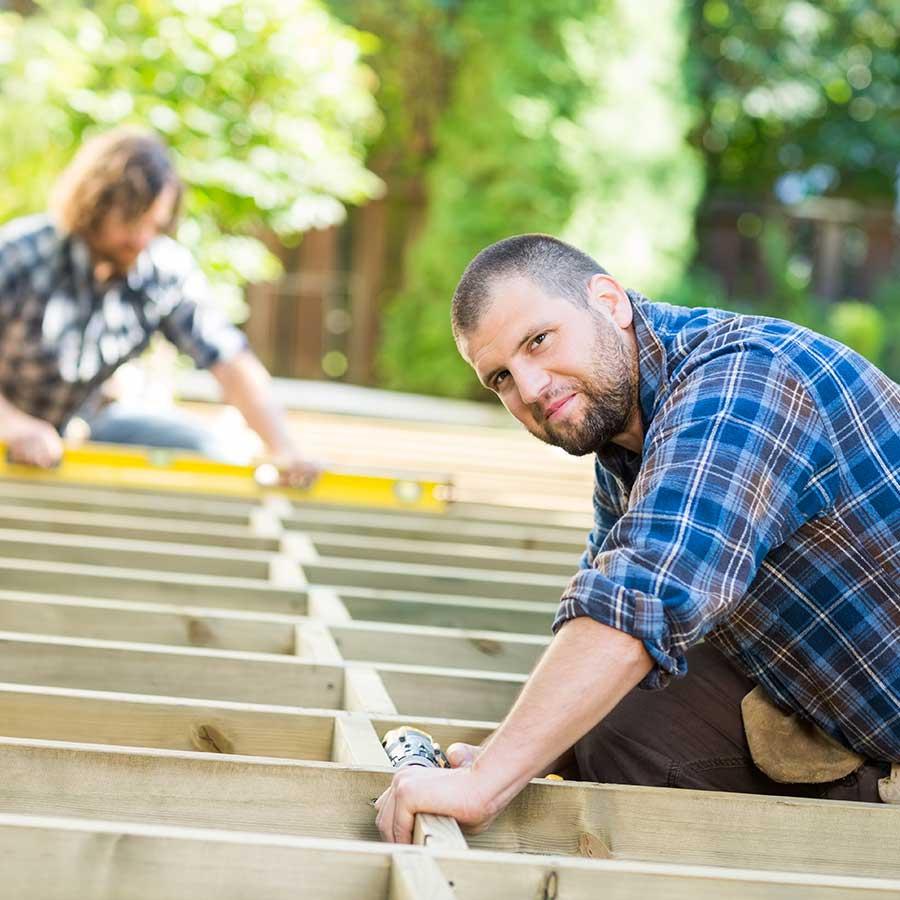 Building Deck In Backyard