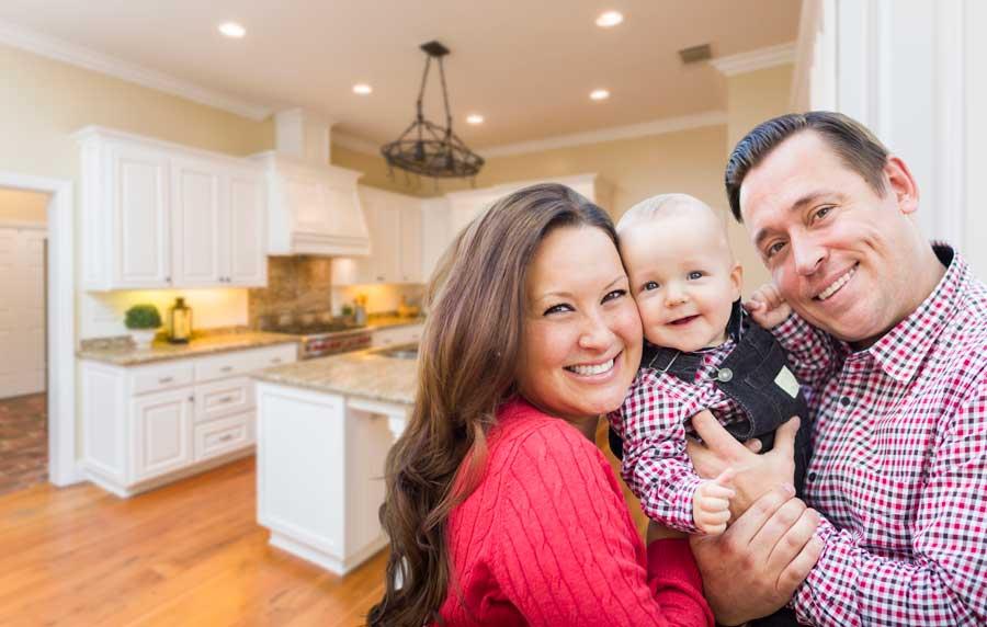 Family Inside Custom Kitchen
