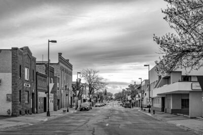 Gregory Harp Local Photographer Downtown Willmar Black And White